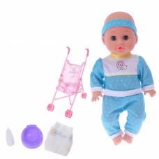 Коляска для кукол с пупсом, цвета в пакете Sima-Land