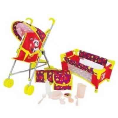 Игровой набор 3 в 1 Deluxe - Кроватка с коляской и аксессуарами Mary Poppins