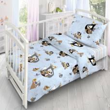 Детское постельное бельё «Коты-Пираты», 140х110 см, 110х140см, 40х60 см, поплин Sima-Land