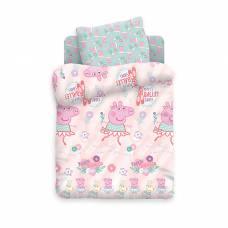 Детское постельное бельё Свинка Пеппа «Балерина» Sima-Land