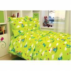 Детское постельное белье Baby - Слоники, зеленое Атра