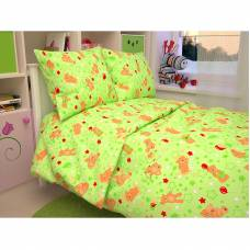 Комплект постельного белья Baby - Мишки, зеленый Атра