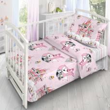 Детское постельное бельё «Кошечки-Принцессы», 140х110 см, 110х140см, 40х60 см, поплин Sima-Land