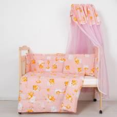 Комплект в кроватку (4 предмета), цвет розовый 7013 Роз ПАПИТТО