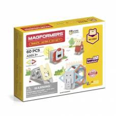 Магнитный конструктор Animal Jumble, 60 деталей Magformers