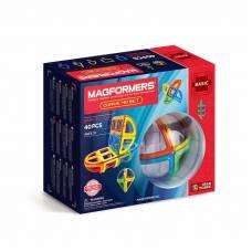 Магнитный конструктор Curve, 40 деталей Magformers