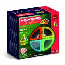 Магнитный конструктор Curve, 20 деталей Magformers