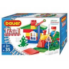 Конструктор Train Blocks -  Железная дорога, 35 деталей Bauer
