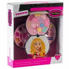 Набор детской декоративной косметики Eva Moda - Косметичка-диск, 3 уровня Bondibon