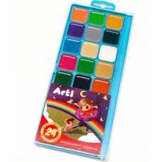 Медовая акварель Travel Kids, 24 цвета Arti