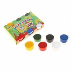 Краски пальчиковые набор 6 цветов*60 мл Спектр 360 мл Яркая забава (от 3-х лет) 07С-502 Спектр