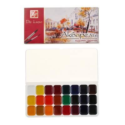 Акварель «Луч Люкс», 24 цвета, в пластиковой коробке, без кисти Луч