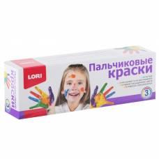 Краски пальчиковые, набор 3 цвета x 70 мл (жёлтый, красный, синий) Lori Gloria