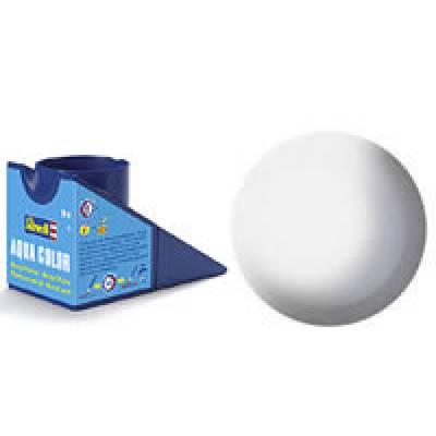 Аква-краска Revell - Белая, шелково-матовая, 18 мл Revell