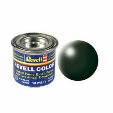 Краска темно-зеленая, шелково-матовая, 14 мл Revell