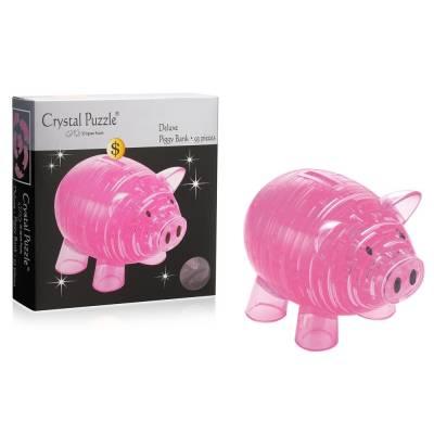 3D головоломка Копилка свинья розовая Crystal Puzzle