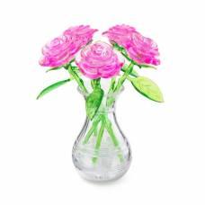 3D головоломка Букет в вазе Розовый Crystal Puzzle