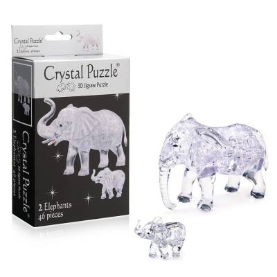 3D головоломка Два слона Crystal Puzzle