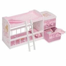 Двухъярусная кроватка для куклы