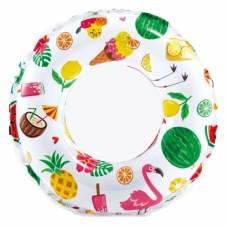 Надувной круг Lively Print Swim Rings - Сладости и фрукты, 61 см Intex
