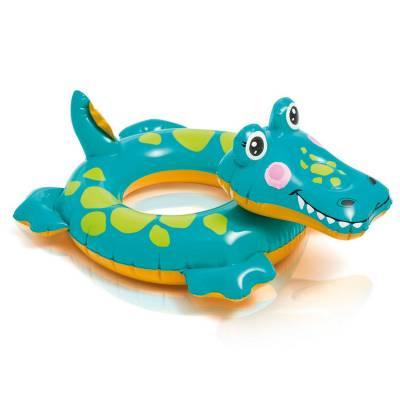 Надувной круг Animal - Крокодил Intex