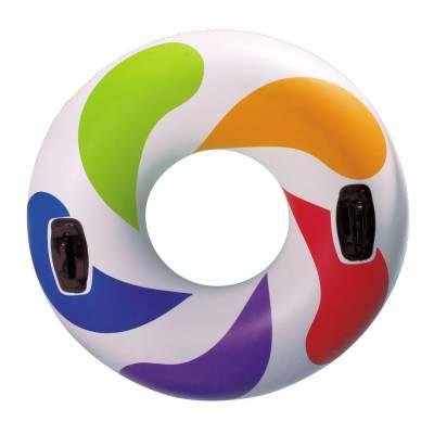 Круг Color whirl с ручками, 122 см Intex