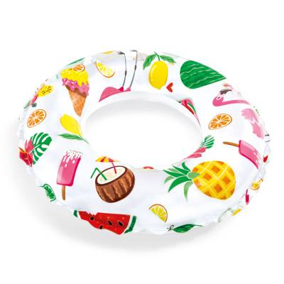Надувной круг Lively Print Swim Rings - Сладости и фрукты, 51 см Intex