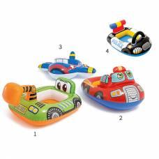 Надувной круг Kiddie Floats с отверстиями для ног Intex