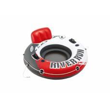 Надувной круг River Run с держателями, бело-красный, 135 см Intex