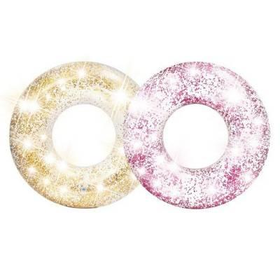 Надувной круг Transparent Glitter, 119 см Intex