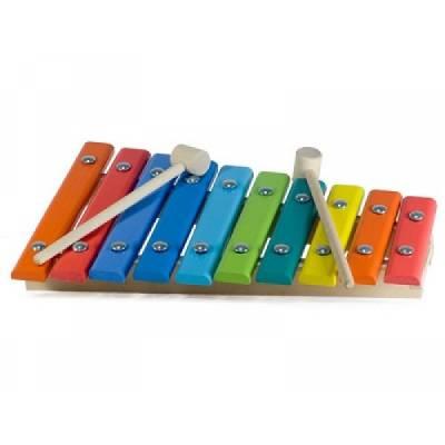 Деревянный ксилофон, окрашенный, 10 нот Алатойс / Alatoys