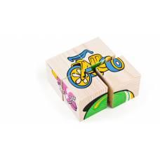 Набор из 4 деревянных кубиков