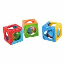 Развивающие кубики-погремушки, 3 шт. PlayGo