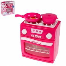 Игровой набор Play At Home - Газовая плита с аксессуарами (свет, звук)