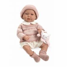 Мягкий пупс Elegance в розовом свитере (звук), 45 см Arias