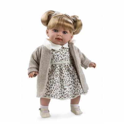 Мягкая кукла Elegance в бежевой кофте (звук), 42 см Arias