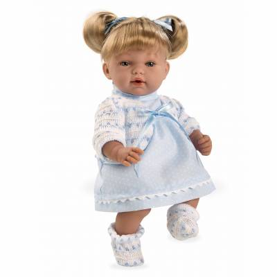 Кукла Elegance в голубом платье (звук), 28 см Arias