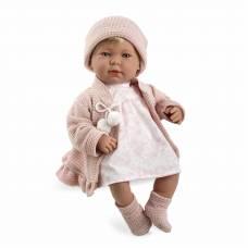 Мягкая кукла Elegance в розовой одежде (звук, смеется), 45 см Arias