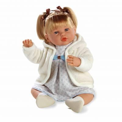 Мягкая кукла Elegance в бежевой одежде (звук), 45 см  Arias