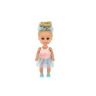 Кукла Sparkle Girlz - Маленькая балерина, блондинка в розово-голубом, 10 см Funville