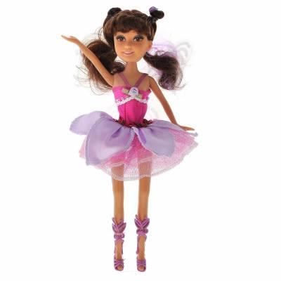 Кукла Brilliance Fair с волшебной палочкой - Брюнетка в розовом платье (свет) Funville