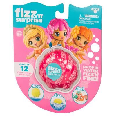 Игрушка-сюрприз Fizz'n Surprise - Шипучая ракушка с фигуркой русалки Moose
