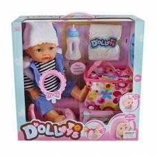 Пупс Baby с аксессуарами (звук, пьет, писает), 40 см Ledy Toys (куклы)