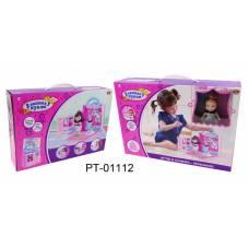 В гостях у куклы. Дом кукольный в сумочке-переноске с куклой и аксессуарами ABtoys