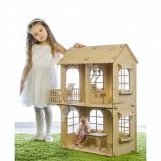 Кукольный дом, средний размер, фанера: 3 мм Теремок