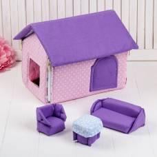 Домик кукольный из текстиля «Ми-ми-домик» Коняша (Авалон)