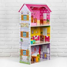 Дом деревянный для кукол 12х69х35 см Sima-Land