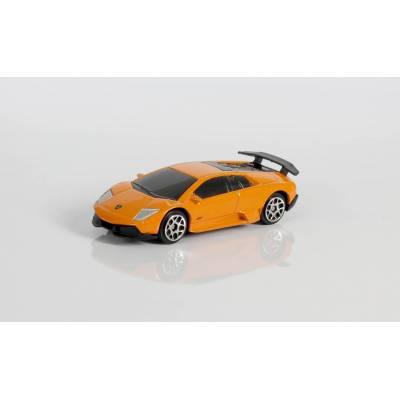 Машина металлическая RMZ City 1:64 Lamborghini Murcielago LP670-4 без механизмов, (оранжевый), 7,26х3,19х2,00 см RMZ City