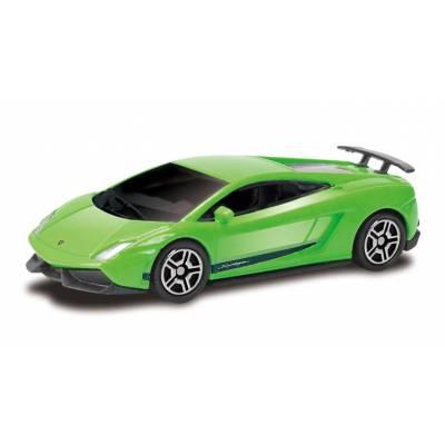 Машина металлическая Lamborghini Gallardo LP570-4, зеленая, 1:64 RMZ City