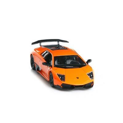 Инерционная коллекционная машинка Lamborghini Murcielago LP670-4, оранжевая, 1:36 RMZ City